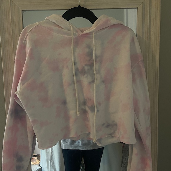 wild fable tie dye cropped hoodie